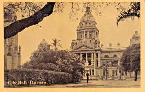 DURBAN SOUTH AFTRICA~CITY HALL-NEWMAN ART POSTCARD 1930s