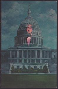 John F Kennedy Memorial,London Wax Museum Postcard