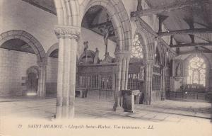 Chapelle Saint-Herbot, Vue Interieure, SAINT-HERBOT, France, 1900-1910s