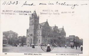 DAYTON, Ohio, PU-1903; Post Office