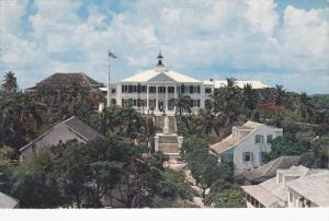 Front of Government House, Nassau, Bahamas, 1940-60s