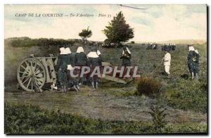 Camp of Courtine - Shooting d & # 39artillerie - militaria - Old Postcard