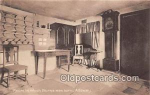 Alloway Postcard Post Card Room in Which Burns Was Born