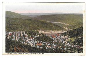 PA Mauch Chunk From Mt Pisgah Birds Eye View Vintage Toshs Dept Store Postcard