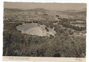 RPPC Greece Epidaurus Theater Stadium Stournaras Real Photo