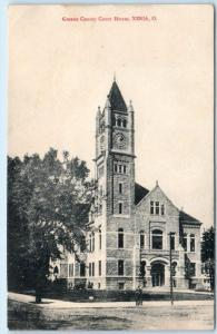 XENIA, Ohio  OH    Greene County COURT HOUSE  ca 1910s  Postcard