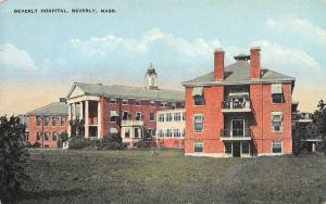 Beverly Hospital, Beverly, Massachusetts, Early Postcard, Unused