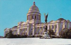 Snow Scene Of The Arkansas State Capitol Little Rock Arkansas