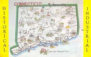 Maps Connecticut USA Unused