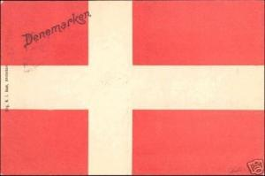 Denmark Dänemark Danemark, National Flag, Patriotism (1899)