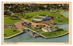 Miami Terminal of Pan-American Airways Postcard