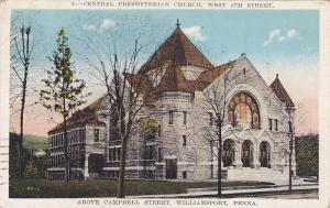 Central Presbyterian Church, West 4th Street, Williamsport, Pennsylvania, 191...