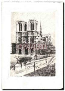 Paris Old Postcard Our Lady (map & # s 39ouvrant with vows to the & # 39inter...