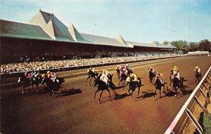 Saratoga, NY, USA Saratoga Race Track Horse Racing 1966 Missing Stamp