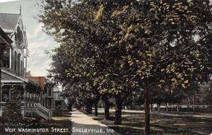 Shelbyville IN Home w/Fancy Vergeboard on W Washington St~Early Autumn c1910