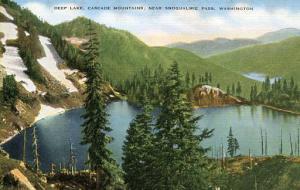 WA - Deep Lake, Cascade Mountains near Snoqualmie Pass