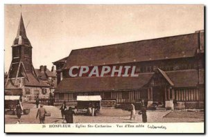 Postcard Old Honfleur Eglise Ste Catherine View d & # 39Ensemble