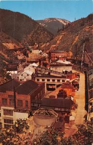 BURKE IDAHO THE MILL OF THE HECLA MINING CO~AERIAL VIEW POSTCARD 1960s