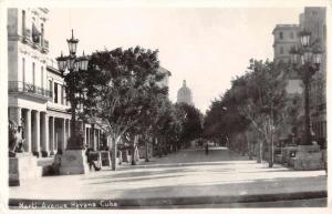 Havana Cuba Marti Avenue Real Photo Antique Postcard J66994