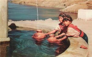 Central America Native America fountain Guatemala 1950s Postcard 5762