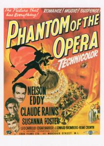 Phantom Of The Opera Nelson Eddy Cinema Poster Postcard