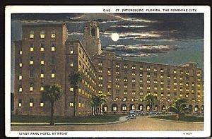 USA Postcard Vinoy Park Hotel by Night St Petersburg Florida