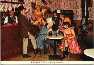 Kelly's Saloon Barkerville BC Fran Dowie Theatre Royal c1975 Postcard D59