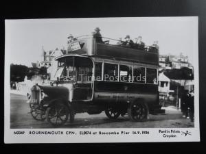 Omnibus BOURNEMOUTH CPN EL2074 AT BOSCOMBE PIER Pamlin Print Postcard M2369