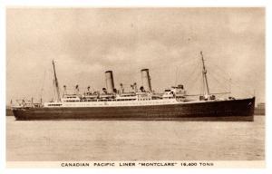 S.S. Montclare ,  Canadian Pacific Liner