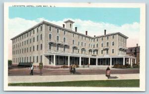 Postcard NJ Cape May Lafayette Hotel c1920s O01