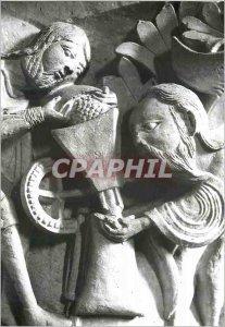 Modern Postcard Vezelay (Yonne) Basilique Sainte Madeleine (XII Century) Capi...