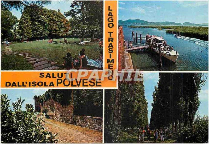 Postcard Modern Saluti dall Isola Polvese Lago Trasimeno