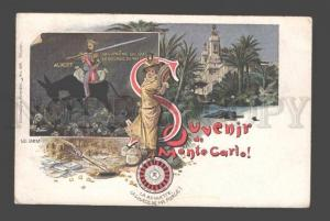 085250 Souvenir de Monte Carlo king ALBERT Vintage comical PC