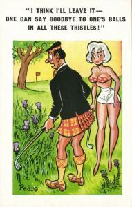 Sunny Pedro Comic Series No. 125 Scotsman Golf Course (1970s)