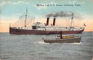 Galveston Texas Mallory Line SS Brazos Steamer Postcard AA39516