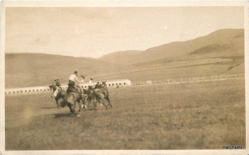 1917 Missoula Montana Rodeo Cowboys RPPC Real photo postcard 2881