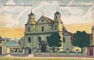 Pozdrowienie z Czestochowy , Kosciol Parafjalny sw. Zygmunta , Poland , 00-10s