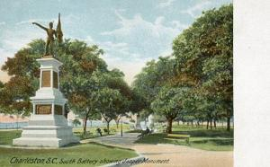 SC - Charleston, South Battery Showing Jasper Monument