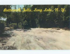 Pre-1980 WATERFALL Long Lake - Near Indian & Tupper & Saranac & Placid NY E4516
