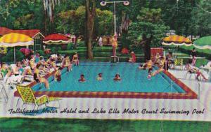 Florida Tallahassee Motor Hotel Lake Ella Motor Court Swimming Pool