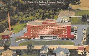 Aerial view, Sunbury community Hospital Sunbury, Pennsylvania, USA Hospital U...