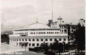 Angelus Temple, Los Angeles, California, Early Real Photo Postcard, Unused