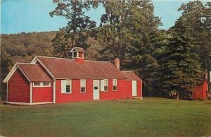Gaylordsville Connecticut~Little Red Schoolhouse~1950s Postcard