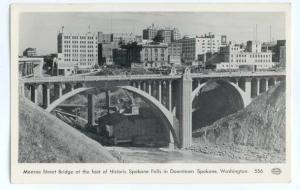 RPPC Monroe St Bridge & Downtown Spokane Washington WA