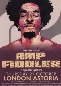Amp Fiddler London Astoria Concert Advertising Postcard