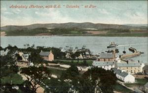 Ardrishaig Scotland SS Columba or Columbia at Pier c1910 Postcard