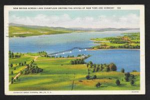 New Lake Champlain Bridge New York New Hampshire used c1936