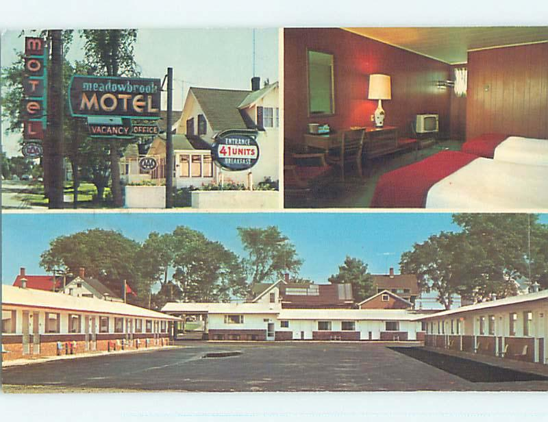 Unused Pre-1980 MEADOWBROOK MOTEL St. Saint Stephen New Brunswick NB o0418
