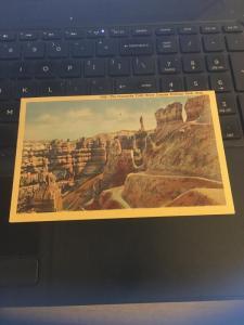 Vintage Postcard; The Comanche Trail. Bryce Canyon National Park