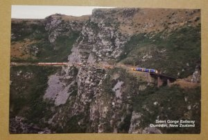 Taieri Gorge Railway, Dunedin, New Zealand postcard
